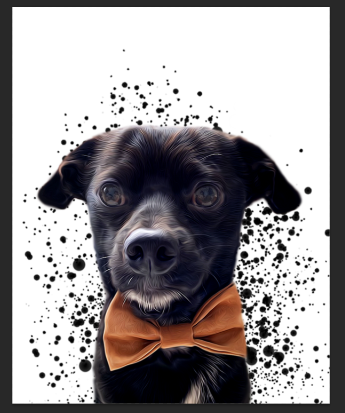 Custom Splatter Pet Portrait