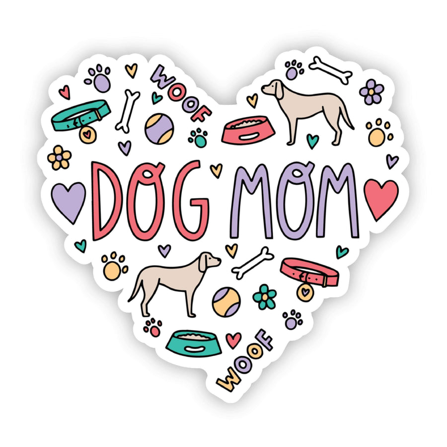 Pre- Order - Dog Mom Heart Sticker - Galaxy Paw