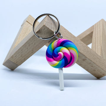 Rainbow Lollipop Charm