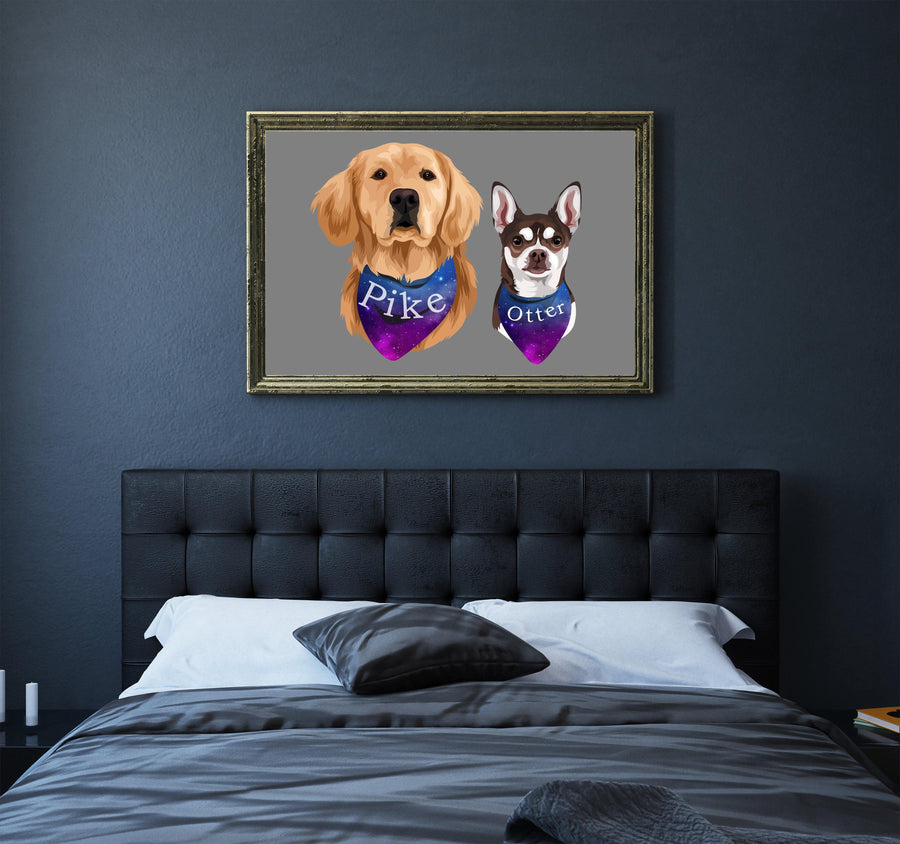 Custom Simplistic Pet Portrait - Galaxy Paw