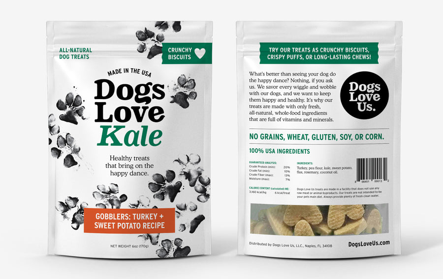 Dogs Love Us - Grain & Wheat-Free - Turkey & Sweet Potato Dog Treats