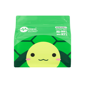 TURTLE GREEN<br>6 color earloops<br>14.5cm Length / For 5+ yo | 30pcs per bag