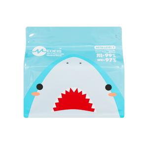 SHARK BLUE<br>6 color earloops<br>14.5cm Length / For 5+ yo | 30pcs per bag