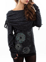 Load image into Gallery viewer, Women's Casual Dandelion Printed Long-Sleeved Top