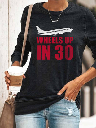 Women's Criminal Minds Wheels Up In 30 Print Sweatshirt