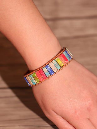 Women's Vintage Colorful Hand Woven Bracelet