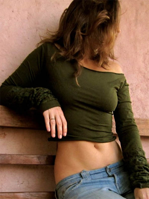 Ladies Army Green Casual Short Top