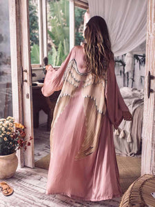 Women's Boho Holiday Elegant Wings Kimono