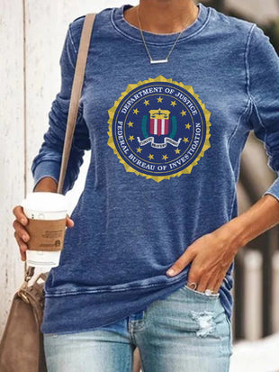 Criminal Minds FBI Badge Long Sleeve Pullover