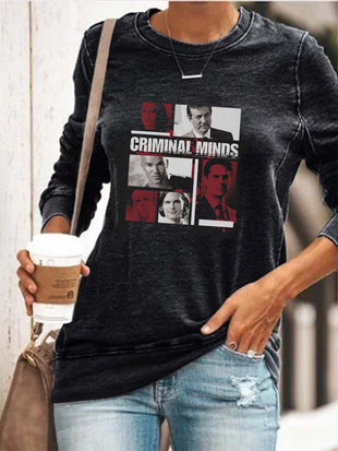 Women's Criminal Minds Print Sweatshirt