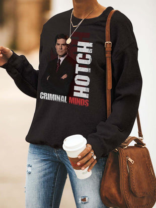 Woman's Criminal Minds Hotch Black Sweatshirt