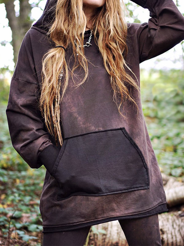 Women's Retro Dye Pocket Hoodie