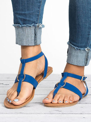 Women's Metallic Circle Trimmed Sandals