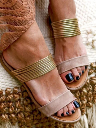 Women's vintage casual flat sandals