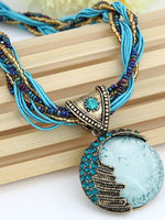 Load image into Gallery viewer, Bohemian Necklace Ethnic Style Rice Beads Weave Retro Necklace Sweater Chain
