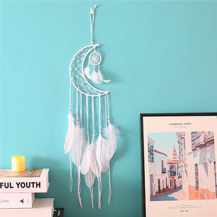 Bohemian Moon Dream Catcher Wind Chime Pendant