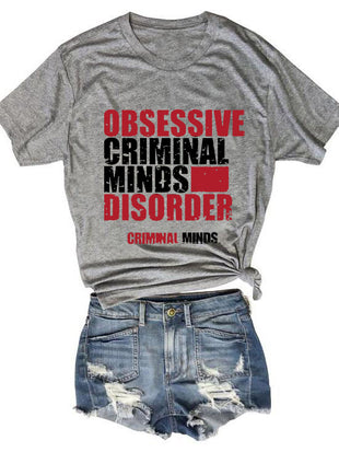 Ladies Obsessive Criminal Minds Disorder T-Shirt
