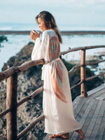 Load image into Gallery viewer, Women's Boho Holiday Elegant Wings Kimono