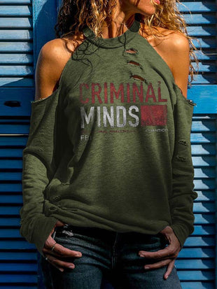 Woman's Criminal Minds Behavioral Analysis Off Shoulder T-shirt