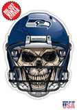 Seattle Seahawks Football Skull Helmet Die Cut Vinyl Decal - 4 Sticker Combo