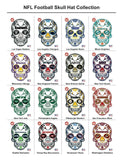 Green Bay Packers Football Skull Die Cut Vinyl Decal - 4 Sticker Combo Pack