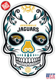 Jacksonville Jaguars Football Skull Die Cut Vinyl Decal - 4 Sticker Combo Pack