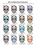 New Orleans Pelicans Basketball Skull Hat Die Cut Vinyl Decal - 4 Sticker Combo