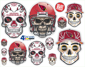 Arizona Cardinals Football Sticker Sheet - Includes 12 Different Decals