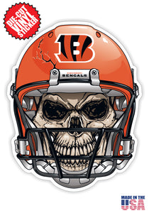 Cincinnati Bengals Skull Helmet NFL Football Sticker