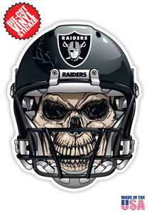 Las Vegas Raiders Skull Helmet NFL Football Sticker