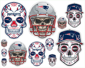 New England Patriots Football Sticker Sheet - Includes 12 Different Decals