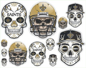 New Orleans Saints Football Sticker Sheet - Includes 12 Different Decals