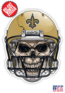 New Orleans Saints Skull Helmet NFL Football Sticker