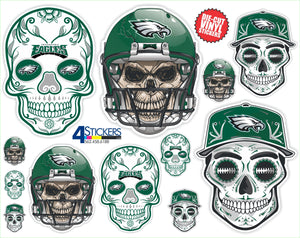 Philadelphia Eagles Football Sticker Sheet - Includes 12 Different Decals