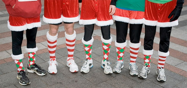Runner's in Christmas leggings