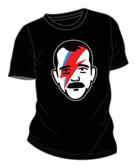 Men's Chris Hadfield Black Aladdin Sane graphic T-shirt