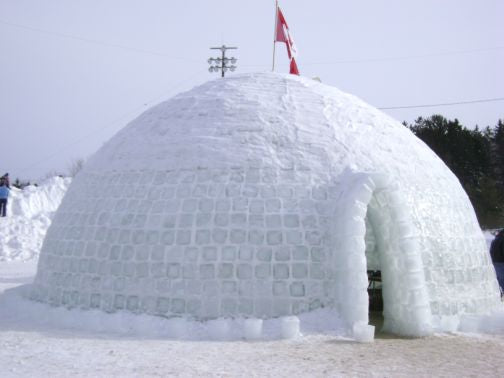World's Largest Igloo in Grand Falls, New Brunswick