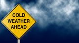Cold Weather Ahead road sign