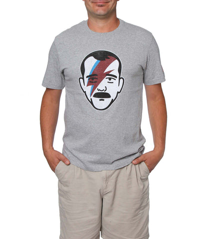 Official Chris Hadfield Aladdin Sane Men's T-Shirt (Grey Mix)