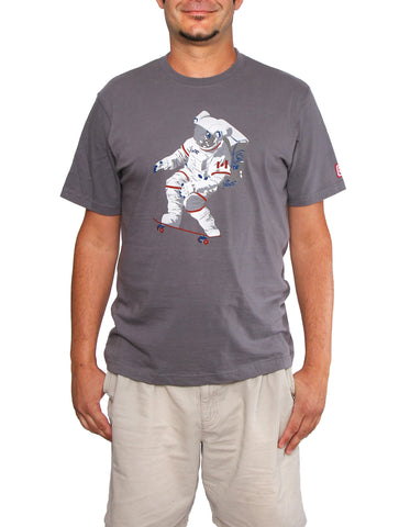 Official Chris Hadfield Skateboarding Astronaut Men's T-Shirt (Slate)