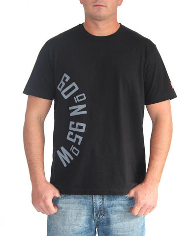 60°N 95°W Men's black crewneck t-shirt
