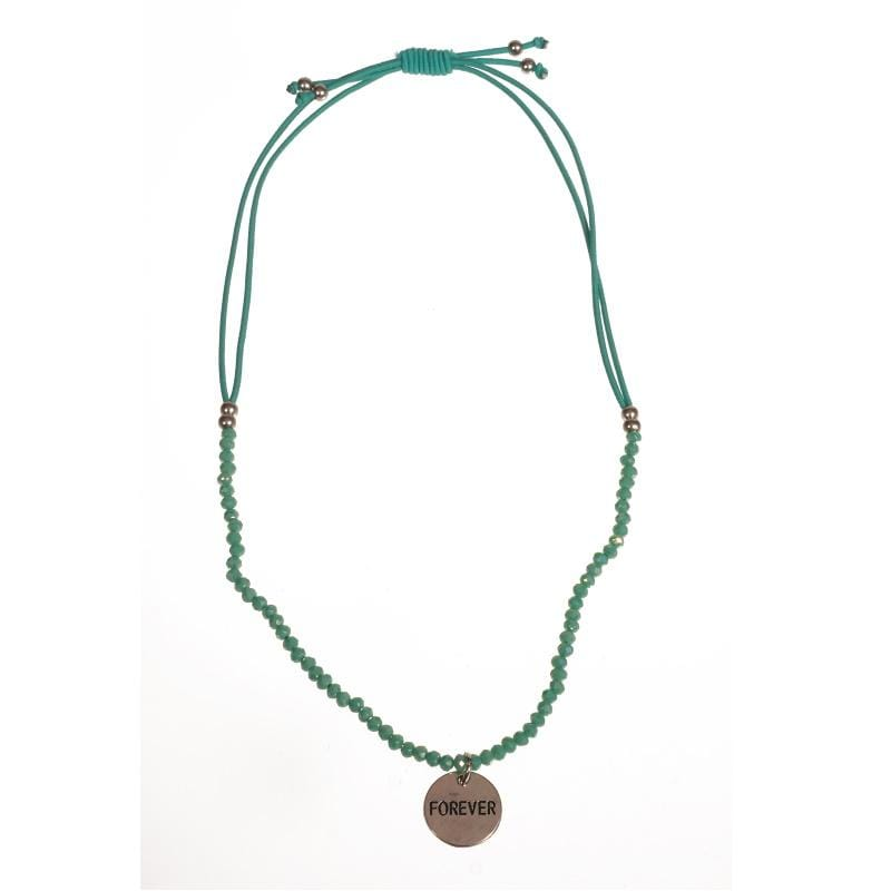 Wings Byou Kindersieraden Wings Girls ketting aqua met hangertje