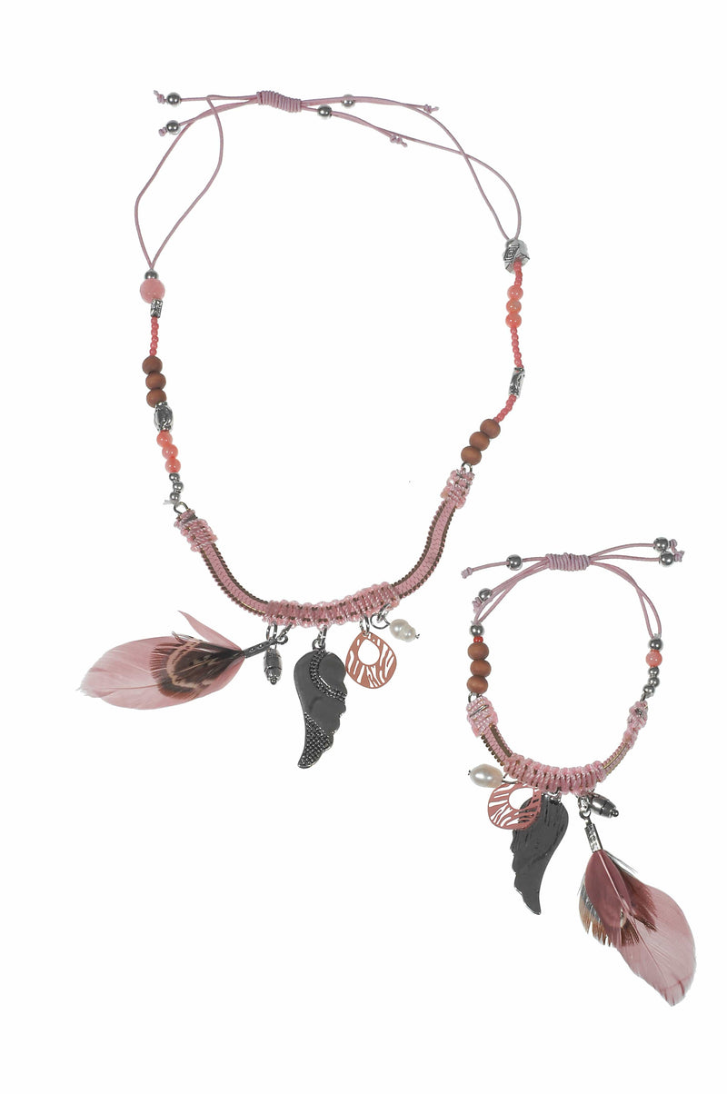 Wings Byou Kindersieraden Wings Girls ketting boho met kwastje