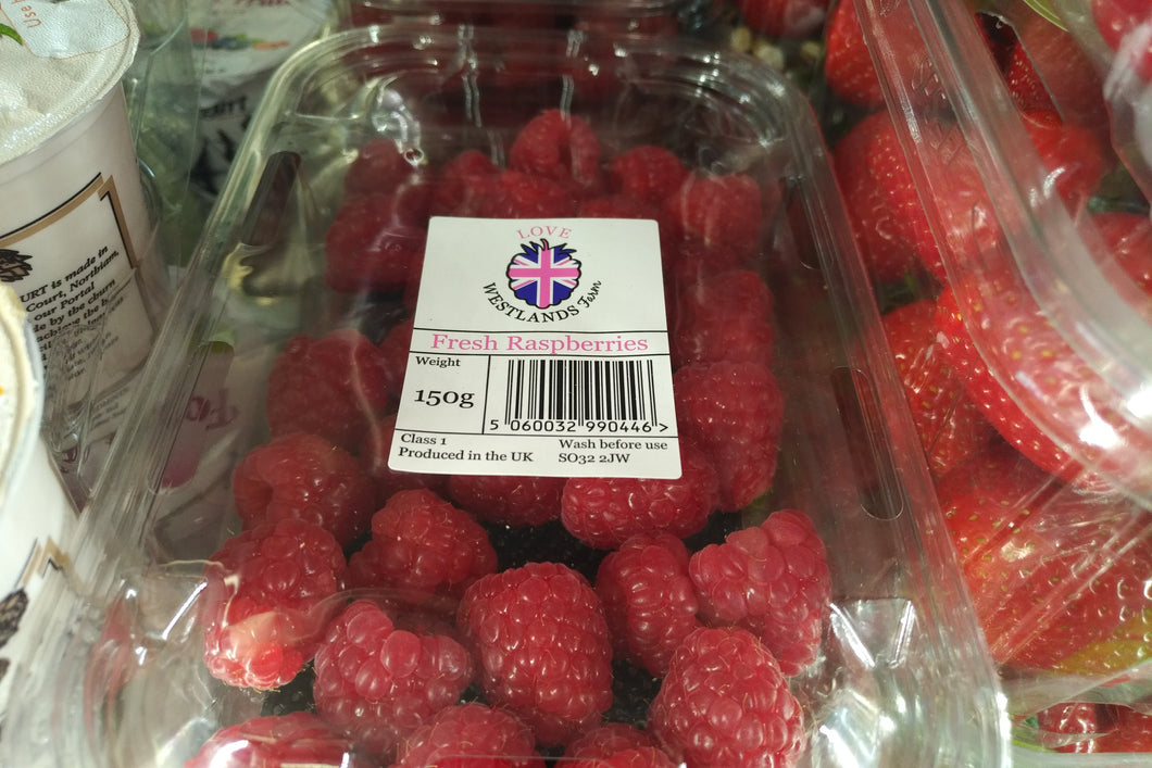 Raspberries, English, punnet