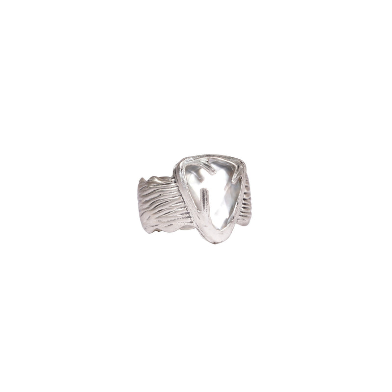 Kimana Monarch Single Stone  Sterling Silver Ring