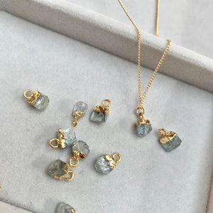 Birthstone Necklace - MARCH, Aquamarine (Pre order for end April delivery) - Decadorn