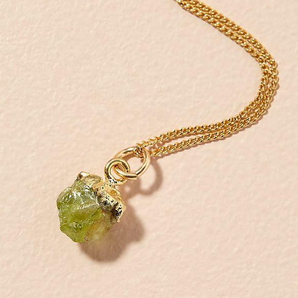 Birthstone Necklace - AUGUST, Peridot - Decadorn
