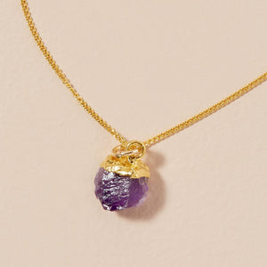 Birthstone Necklace - FEBRUARY, Amethyst - Decadorn