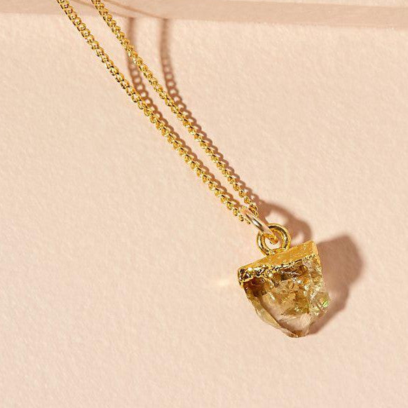 Birthstone Necklace - NOVEMBER, Citrine - Decadorn