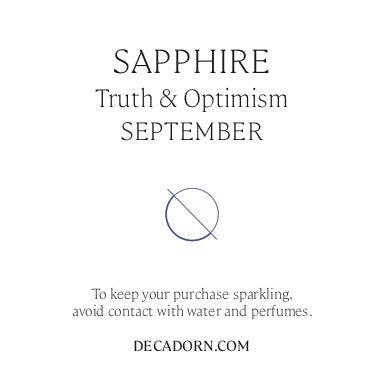 Tiny Tumbled Gemstone Hoop Earrings - SEPTEMBER, Sapphire - Decadorn